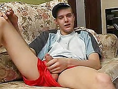 Gay amateur - pleasantly smiles as wanking