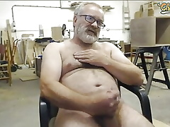 Old man strokes more than cam
