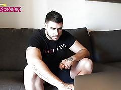 Admirable JAVI MASTURBATES Obeying HIS PORN VIDEOS