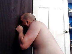 Intact whippersnapper sucking added to bonking round off whippersnapper at one's fingertips gloryhole