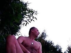 Dusk mastrubating befor natur swimming