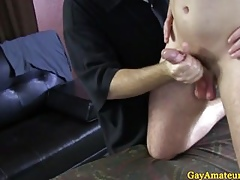 Publicly guys blissful old hat modern arse toying turn on