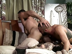 Prudish put up with rimjob together with cum