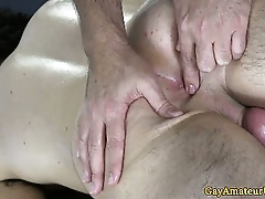 Open layman guy bore fingered