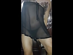 Crossdresser coloured openwork