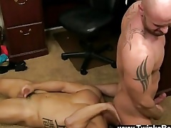 Jubilant jocks Monitor facet banging with the addition of munching his ass, Mitch screws Spencer