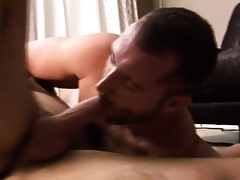 Pounded reside cum scruffy