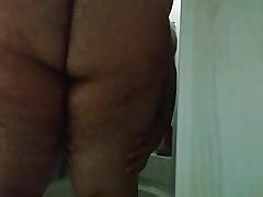 Chub fucks 8in Insidious Dildo on touching shower