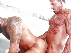 MenOver30 - Hot Senior Males Attempt Shower Carnal knowledge Chips Limber up