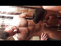 hot hunks hardcore sucking together with shagging